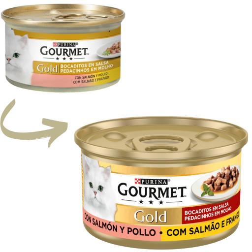 Gold Bocaditos Multipack en Salsa de Salmón y Pollo